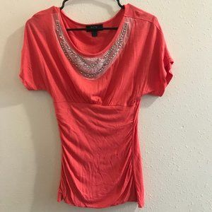 BCX Coral Ruched Blouse - Flattering Fit